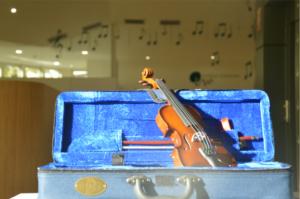 violín de cara